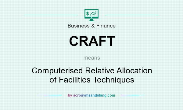 What does CRAFT mean? It stands for Computerised Relative Allocation of Facilities Techniques