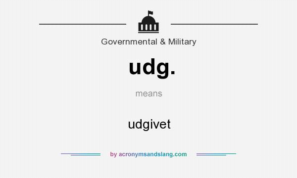 What does udg. mean? It stands for udgivet
