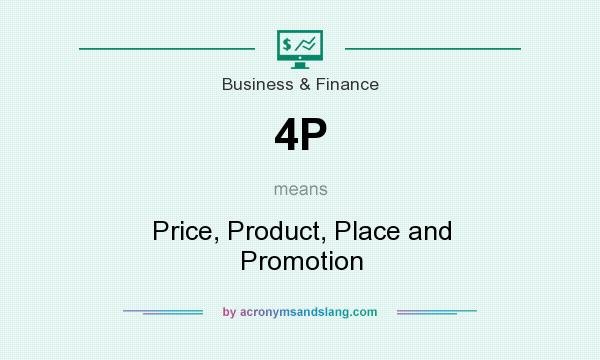 What does 4P mean? It stands for Price, Product, Place and Promotion
