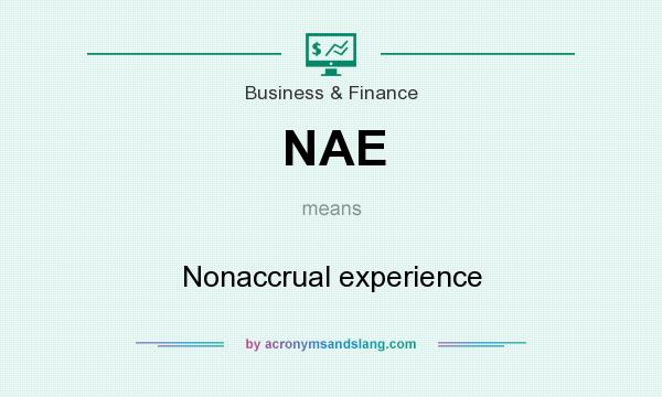 What does NAE mean? It stands for Nonaccrual experience