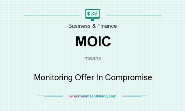 What does MOIC mean? It stands for Monitoring Offer In Compromise