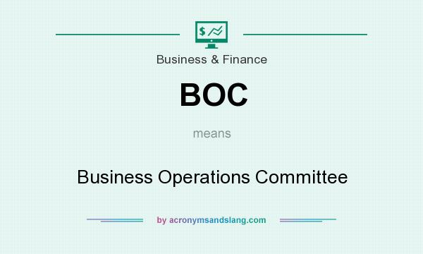 What does BOC mean? It stands for Business Operations Committee