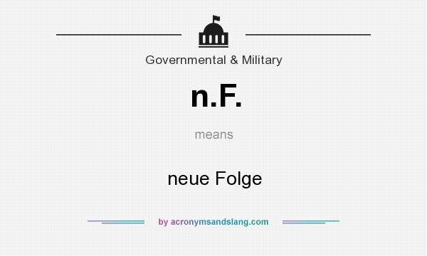 What does n.F. mean? It stands for neue Folge