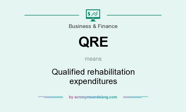 What does QRE mean? It stands for Qualified rehabilitation expenditures