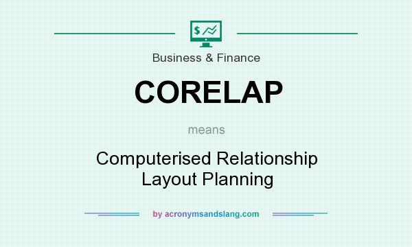 What does CORELAP mean? It stands for Computerised Relationship Layout Planning
