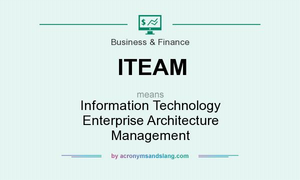 What does ITEAM mean? It stands for Information Technology Enterprise Architecture Management