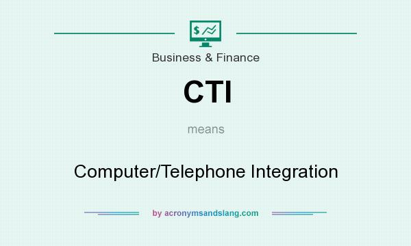 What does CTI mean? It stands for Computer/Telephone Integration
