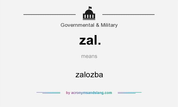 What does zal. mean? It stands for zalozba