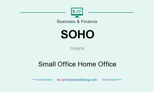 What does SOHO mean? It stands for Small Office Home Office