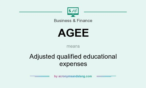 What does AGEE mean? It stands for Adjusted qualified educational expenses