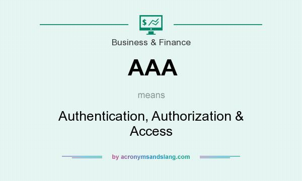 What does AAA mean? It stands for Authentication, Authorization & Access