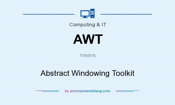 What does AWT mean? It stands for Abstract Windowing Toolkit