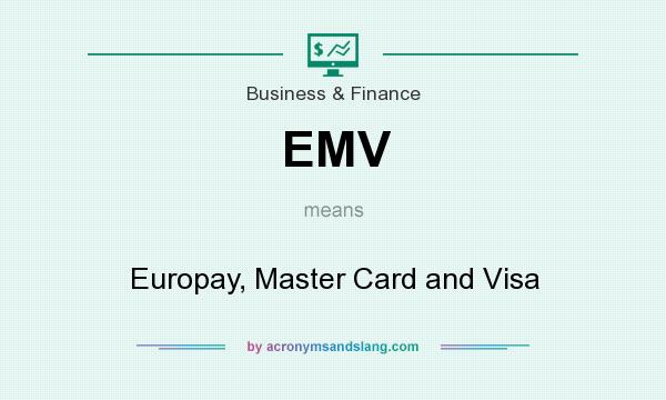 What does EMV mean? It stands for Europay, Master Card and Visa