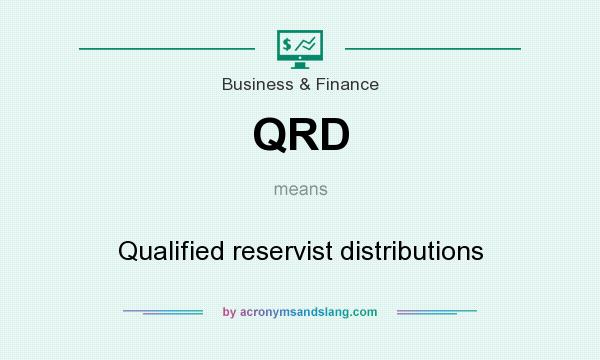 What does QRD mean? It stands for Qualified reservist distributions