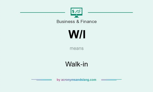 What does W/I mean? It stands for Walk-in