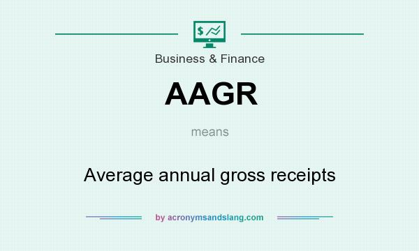 What does AAGR mean? It stands for Average annual gross receipts