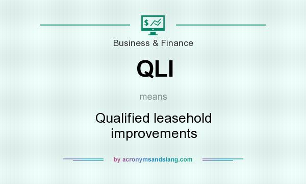 What does QLI mean? It stands for Qualified leasehold improvements