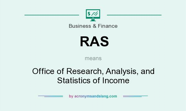 What does RAS mean? It stands for Office of Research, Analysis, and Statistics of Income