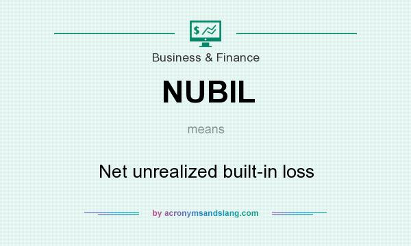 What does NUBIL mean? It stands for Net unrealized built-in loss