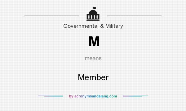 What does M mean? It stands for Member