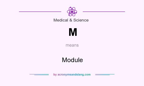 What does M mean? It stands for Module