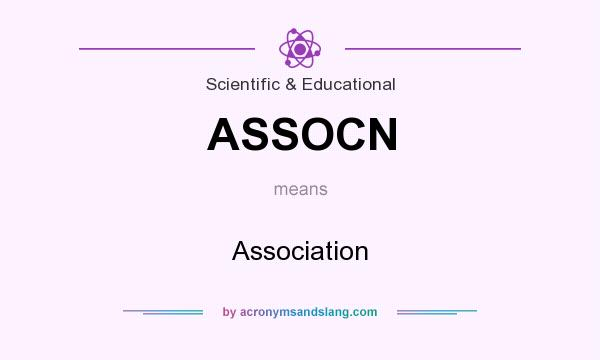 What does ASSOCN mean? It stands for Association