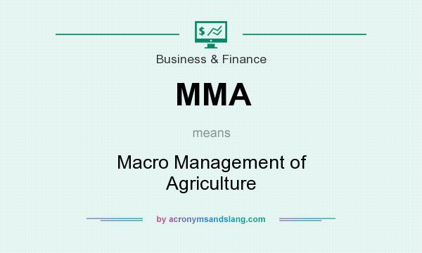 What does MMA mean? It stands for Macro Management of Agriculture