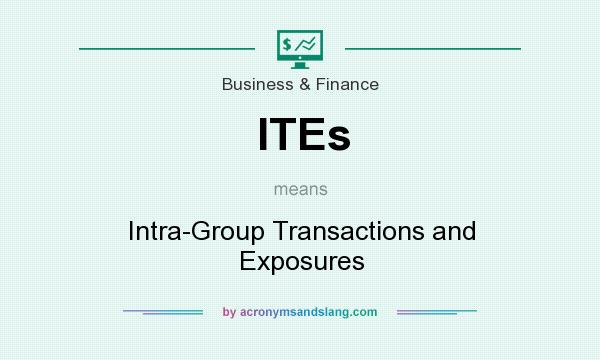 What does ITEs mean? It stands for Intra-Group Transactions and Exposures