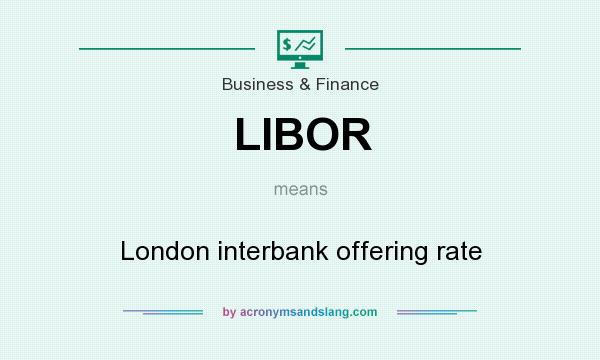 What does LIBOR mean? It stands for London interbank offering rate