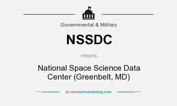 What does NSSDC mean? It stands for National Space Science Data Center (Greenbelt, MD)