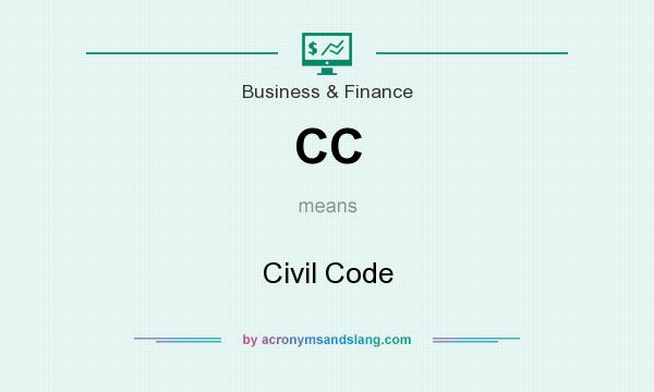 What does CC mean? It stands for Civil Code