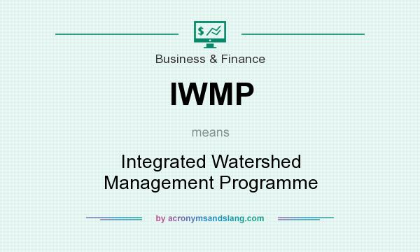 What does IWMP mean? It stands for Integrated Watershed Management Programme