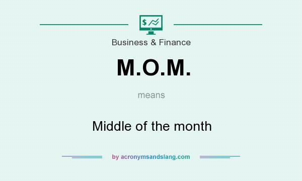 What does M.O.M. mean? It stands for Middle of the month