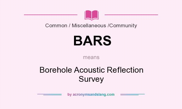 What does BARS mean? It stands for Borehole Acoustic Reflection Survey
