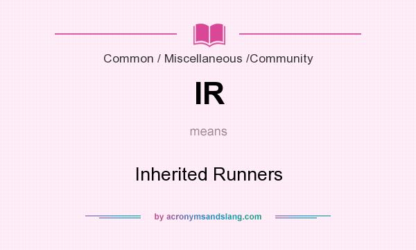 What does IR mean? It stands for Inherited Runners