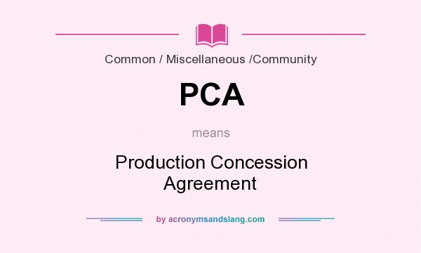 Pca Production Concession Agreement In Common Miscellaneous