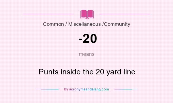 What does -20 mean? It stands for Punts inside the 20 yard line
