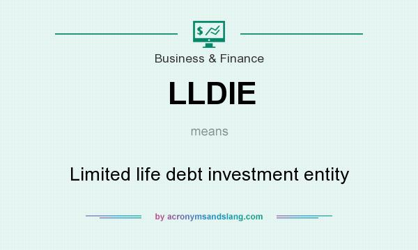 What does LLDIE mean? It stands for Limited life debt investment entity