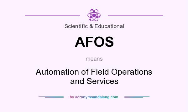 What does AFOS mean? It stands for Automation of Field Operations and Services