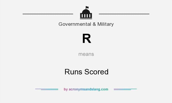 What does R mean? It stands for Runs Scored