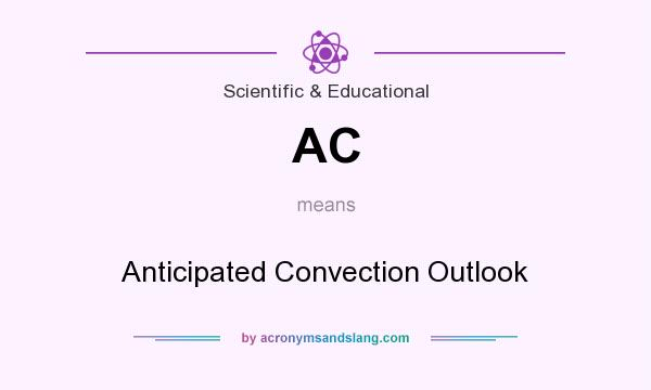 What does AC mean? It stands for Anticipated Convection Outlook
