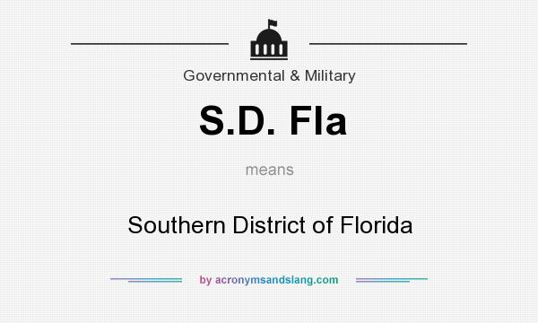 What does S.D. Fla mean? It stands for Southern District of Florida