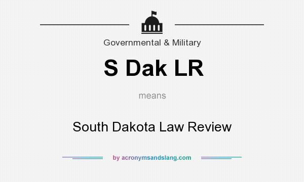 What does S Dak LR mean? It stands for South Dakota Law Review