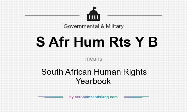 What does S Afr Hum Rts Y B mean? It stands for South African Human Rights Yearbook