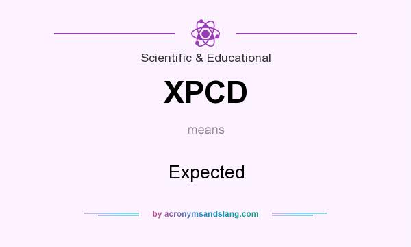 What does XPCD mean? It stands for Expected