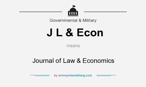 What does J L & Econ mean? It stands for Journal of Law & Economics