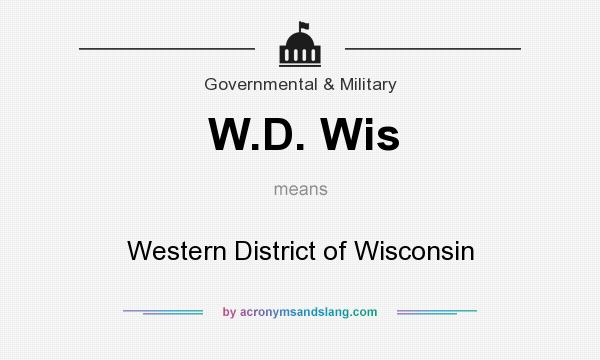 What does W.D. Wis mean? It stands for Western District of Wisconsin