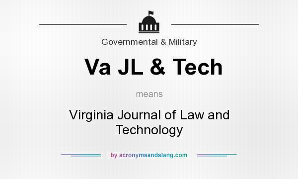 What does Va JL & Tech mean? It stands for Virginia Journal of Law and Technology