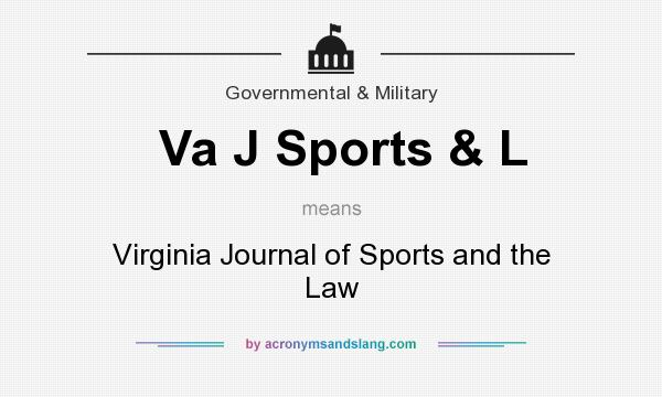 What does Va J Sports & L mean? It stands for Virginia Journal of Sports and the Law