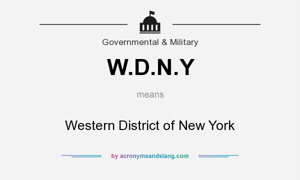 What does W.D.N.Y mean? It stands for Western District of New York